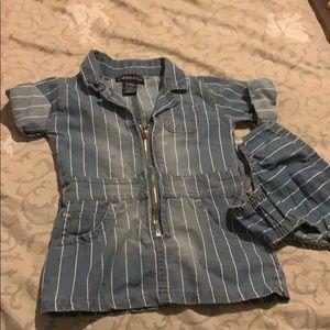 Striped jean dress !!!